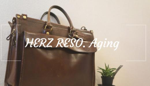 使用歴5年のHERZ RESO.のビジネスバッグの経年変化。