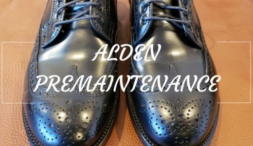 ユナイテッドアローズ別注ALDEN58853。プレメンテナンスからの履きおろし。